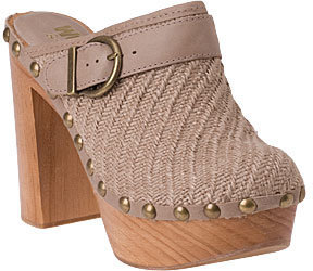 Jeffrey Campbell Clogs - Karl Beige Fabric - Casual Shoes