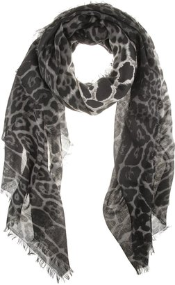 Yves Saint Laurent Leopard Print Scarf - Patterned Scarf