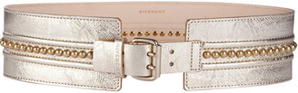 Givenchy Pale Gold Studs Line Belt - Metallic Belt
