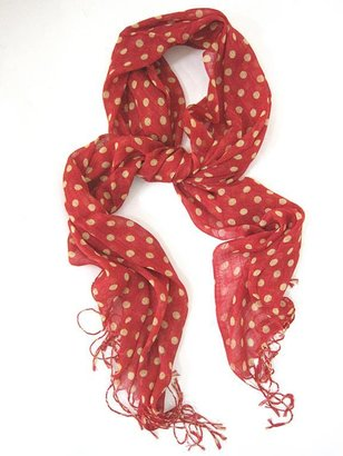 Red Polka Dot Scarf - Harmony Lane