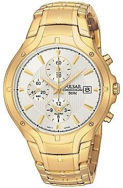 Pulsar chronograph gold-tone dress watch - Gold Chronograph Watch