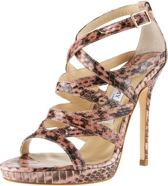 Jimmy Choo Strappy Snake Sandal - Heels