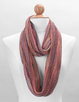 Collection 18 Metallic Infinity Loop Scarf - Accessories