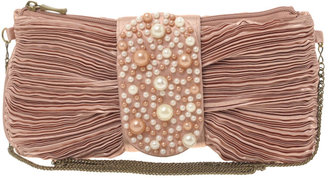 ASOS Satin And Pearl Bow Clutch - Clutches