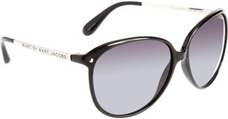 Marc by Marc Jacobs Round Frame Sunglasses - Black - Marc Jacobs Sunwear
