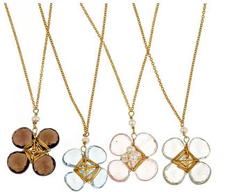 Amanda Rudey Flower Necklace - Bronze Statement Necklace