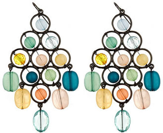 Dereon Bead Chandelier Earrings - Rihanna-Style Accessories