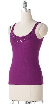 Lc lauren conrad embellished tank - Dress Like Lauren Conrad