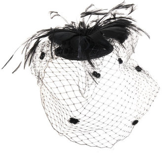 Birdcage Feather Veil - Hair Pin