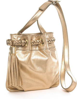 MICHAEL Michael Kors Grommet Crossbody Bag - Metallic Shoulder Bag