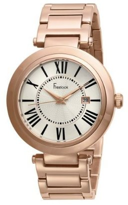 Freelook Unisex HA1134RG-9 rose gold plated stainless steel White Dial Roman Numeral Watch - Rose Gold Watches