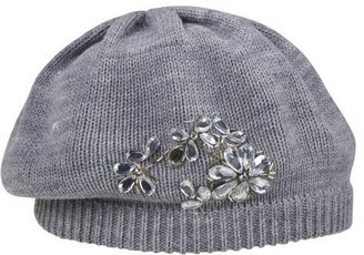 Threads Solid Knit Beret With Jewel Design - Grey - Target
