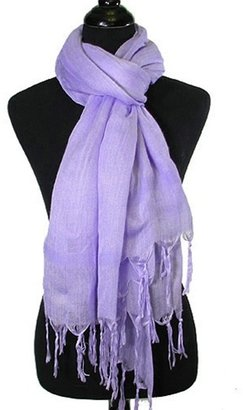 Love Quotes Metallic Italian Linen Wrap Scarf in Wisteria - Accessories
