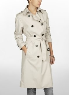 Washed Twill Raglan Trench Coat - Clothes