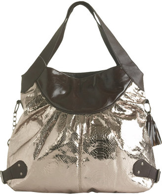 Metallic Snake Trip Satchel - Metallic Purses