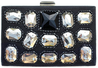 Moyna Handbags Velvet Box Frame Clutch - Sparkling Box Clutches 