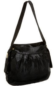 Latico Lizard Top Zip Shoulder Bag - Handbags