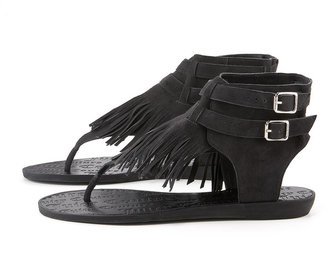 Juicy Couture Mannie Fringe Thong Sandal - Fabulous Fringe
