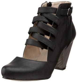 ALL BLACK Women's Belted Cutout Heel Bootie - Shoes
