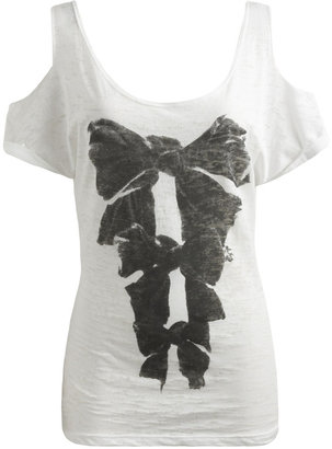 Tiered Bow Print Tee - Playful Printed Tees