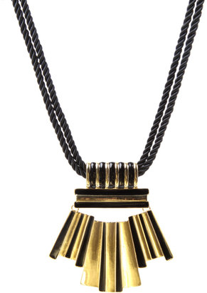 ASOS Statement Vintage Style Plate Necklace On Thick Twisted Rope Chain - Statement Necklace