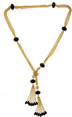 Loren Hope Flapper Tassel Lariat Necklace - Gold Lariat Necklace