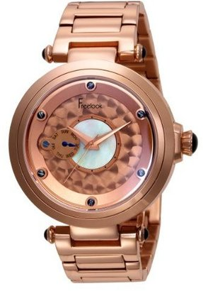 Freelook Unisex HA1999RGM-1 10th Anniversary All Rose Gold Plated Stainless Steel Case/Bracelet Watch - Rose Gold Watches