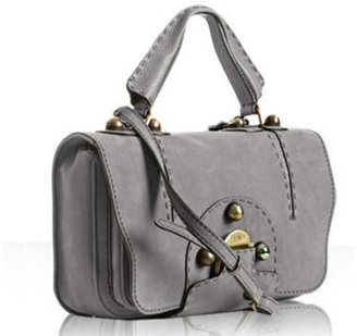 Fendi grey patterned suede &#39;Secret Code&#39; bag - Suede Shoulder Bag