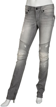 Rockstar Denim  Ripped Biker Zip Bottom Jean - Jeans