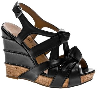 No. 704b Robyn Knotted Leather Wedge - Heels