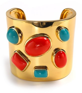 Trina Turk Cabochon Cuff, 2.5&quot;W - Jewelry