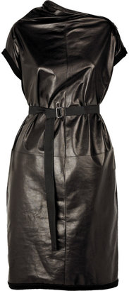 Bottega Veneta Leather zip neck dress - Dress Like Adriana Lima