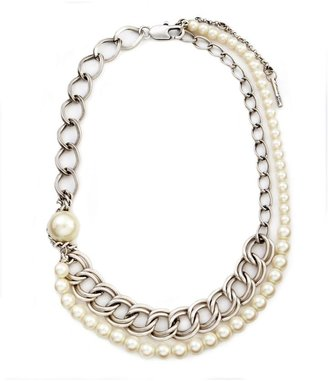 Kenneth cole new york pearl & chain layered necklace - Layered Pearl Necklace