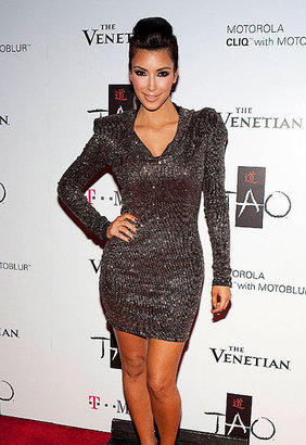 Brian Lichtenberg Glitter Hooded Dress in Many Colors - as seen on Kim Kardashian - Kim Kardashian Style Dresses