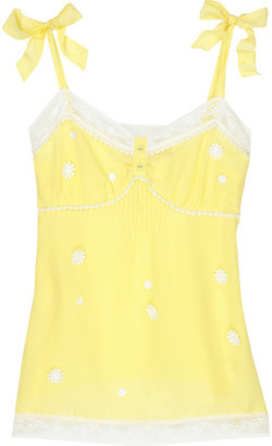 Juicy Couture Daisy Sleepwear silk camisole - Silk Pajamas