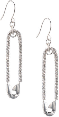 Sparkly Safety Pin Earrings - Jewelry