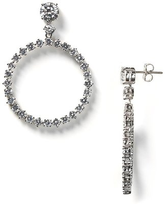 Nadri Cubic Zirconia Hoop Dangle Earrings - Nadri
