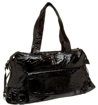 Latico Patent Crunch Top Zip Shoulder Bag - Patent Leather Shoulder Bag