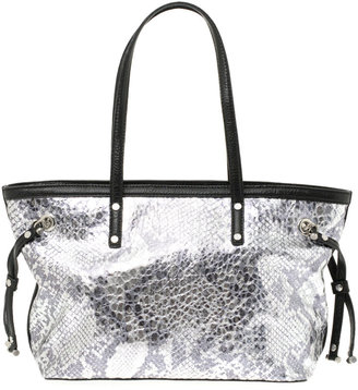DKNY Active Metallic Python Effect Small Shopper Bag - Handbags