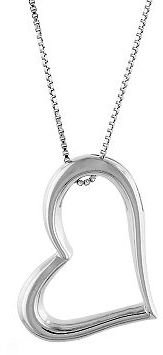 Sterling silver heart pendant - Sterling Silver Heart Necklaces