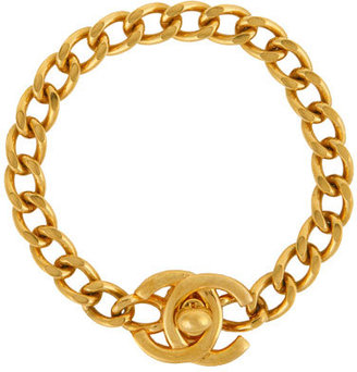 WGACA Vintage Chanel CC Lock Bracelet - Classic Chanel Jewelry