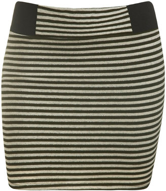 Lurex Stripe Mini Skirt - Clothes