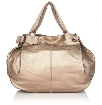 Salvatore Ferragamo Miss Vara Metallic Leather Bow Tote - Salvatore Ferragamo