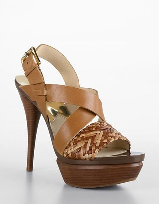 Michael Michael kors Juniper Leather Platform Sandals - MICHAEL Michael Kors