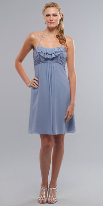 Short Ruffled Halter Bridesmaid Dresses by Liz Fields - eDressMe