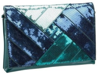 Melie Bianco Oversized Multi Sequins Clutch - Handbags
