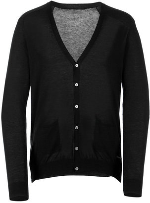 Costume National Black V-Neck Cardigan - Dress Like Cristiano Ronaldo