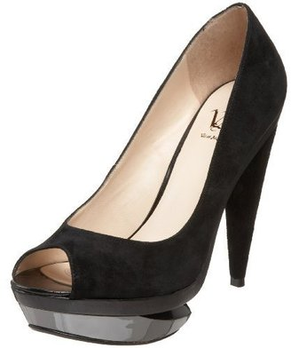 Velvet Angels Women&#39;s Town  Platform Peep Toe Pump - Peep Toe Pumps