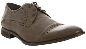 John Varvatos black leather &#39;Murray&#39; floating cap toe oxfords - Flat Oxfords