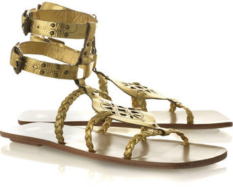 Juicy Couture Leather gladiator sandals - Shimmery Gold Sandals